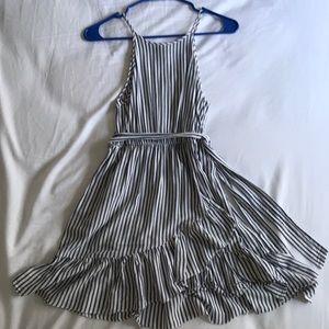 Aqua striped dress